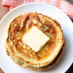 Easy Keto Low Carb Cheddar Cheese Pancakes.