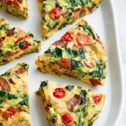 Easy Oven Baked Frittata Recipe.