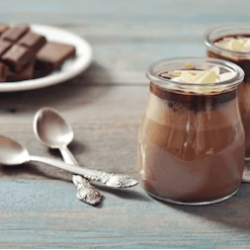 Low Carb Keto Chocolate Gelatin Pudding