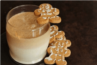 A Gingerbread Cookie Smoothie Recipe.